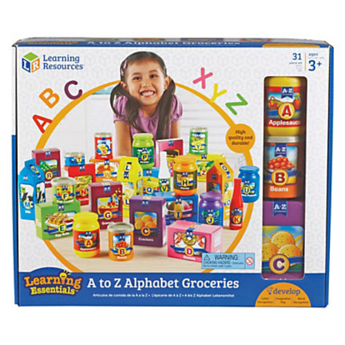 Learning Resources A-Z Alphabet Groceries Activity Set - Theme/Subject: Learning - Skill Learning: Language, Letter Recognition, Word Recognition, Picture Identification, Vocabulary