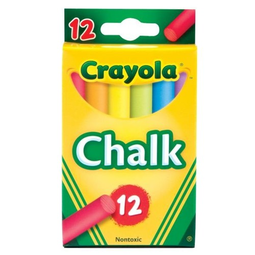 Crayola 12 Sticks White Chalk (51-0320)