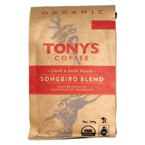 Tony's Coffee Songbird Blend Whole Bean Coffee - 12oz