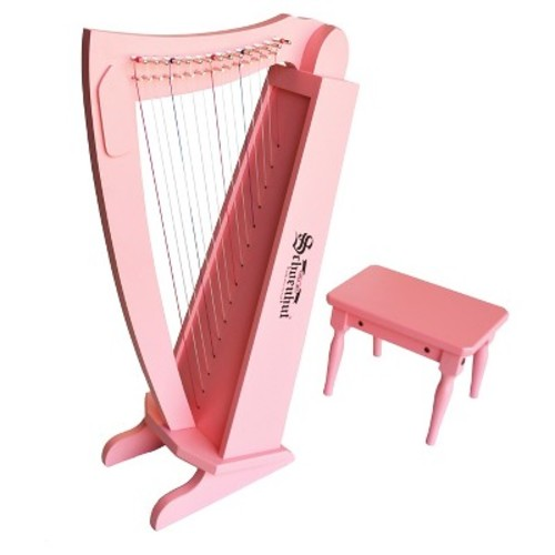 Schoenhut 15 String Harp with Bench