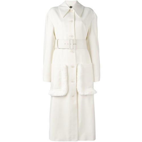STELLA MCCARTNEY 'Addison' Oversize Fringed Coat
