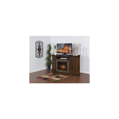 Sunny Designs K3551DC-72F Santa Fe Fireplace TV Console with Firebox