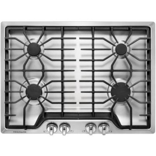 Frigidaire 30 in. Gas Cooktop in Stainless Steel with 4 Burners