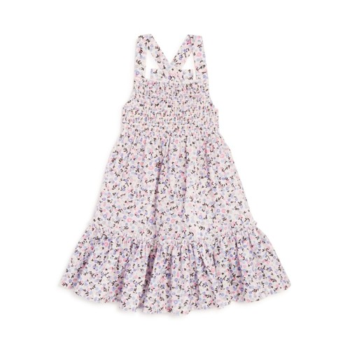 KATE SPADE NEW YORK Girls' Smocked Floral Print Coverup - Sizes 2-6