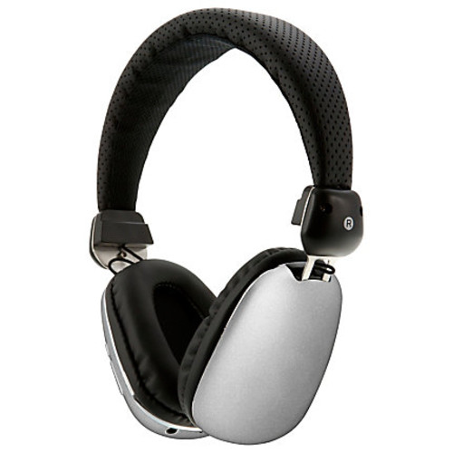 iLive Bluetooth Headphones, Aviator With Case, Over The Ear, Silver, IAHP46S