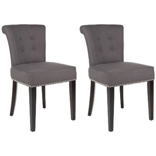 Safavieh Mercer Modern Sinclair Ring Chair - Charcoal - Set of 2
