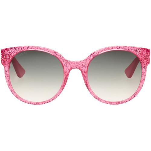 GUCCI Pink Round Glitter Sunglasses