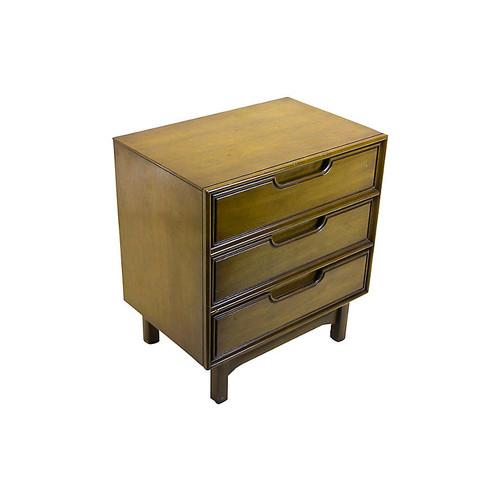 Midcentury 3-Drawer Nightstand
