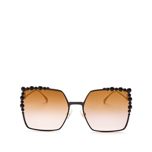 FENDI Square Embellished Sunglasses, 60Mm