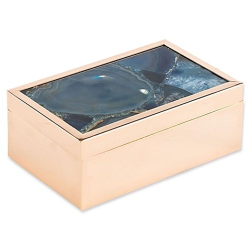 Zuo Agate Pattern Small Box in Blue