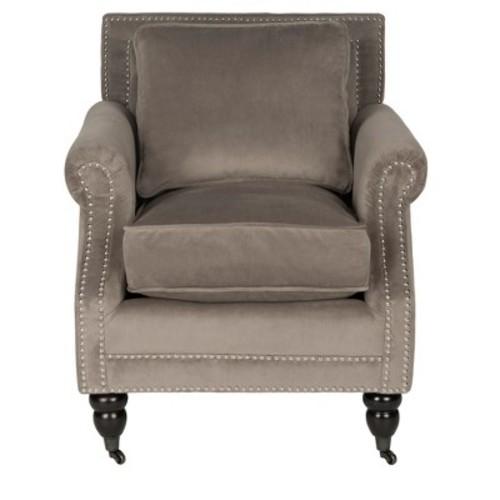 Safavieh Karsen Club Chair W/ Brass Nail Heads
