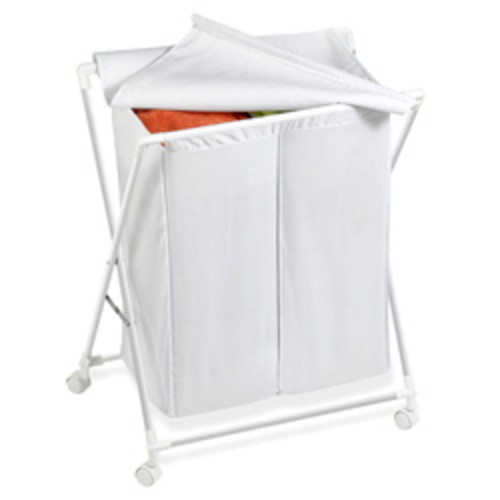 Honey Can Do HMP-02108 Chrome Rolling Hamper