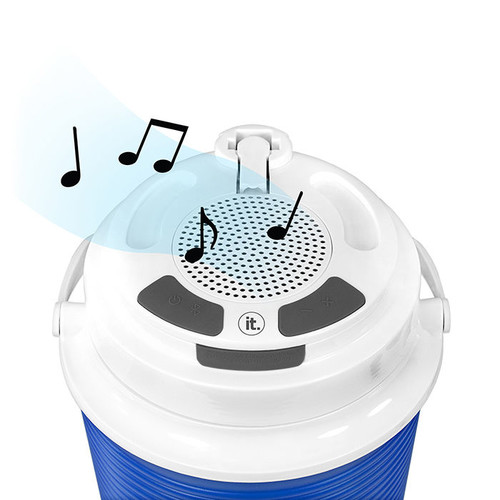 Innovative Technology Rechargeable Bluetooth Waterproof Speaker Cooler with Built-In Battery Charger by Innovative Technology
