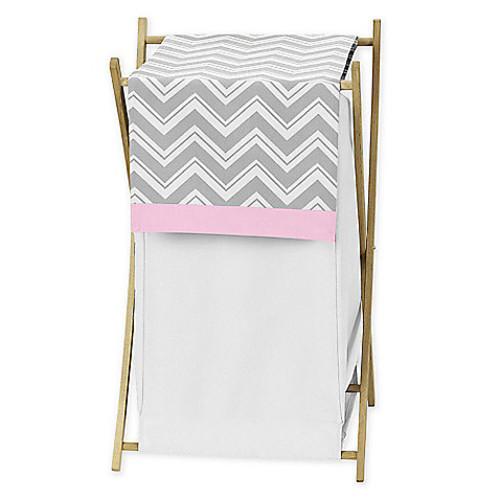 Sweet Jojo Designs Zigzag Hamper in Pink/Grey