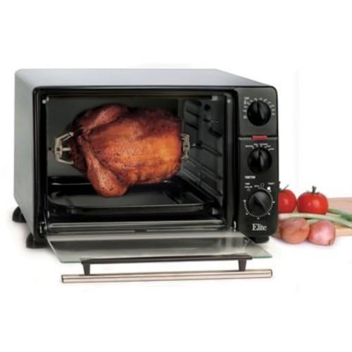 Maxi-Matic Elite Cuisine Toaster Oven With Rotisserie, Black