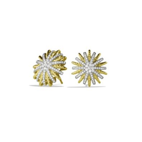 Starburst Small Earrings with Diamonds in G