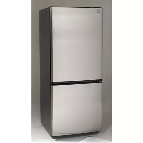 Avanti FFBM102D3S 10.2 Cu Ft Bottom Freezer Frost Free Refrigerator Black with Stainless Steel