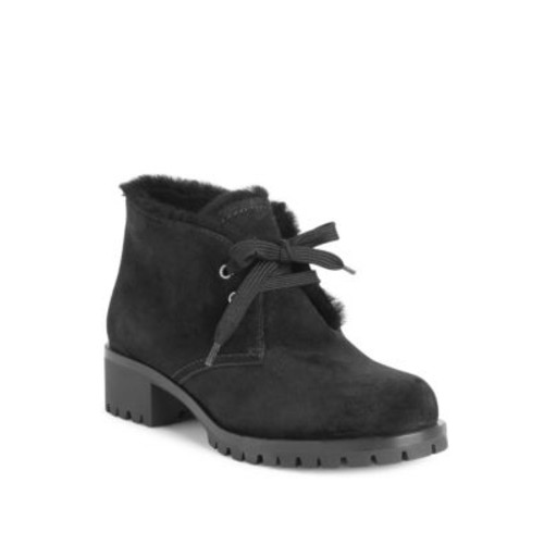 PRADA Shearling-Trim Suede Winter Desert Boots