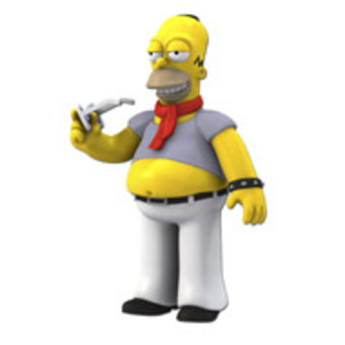 Simpsons 25th Anniversary - 5 inch Figure - Series 5 Homer Simpson (Dressed like Kravitz)