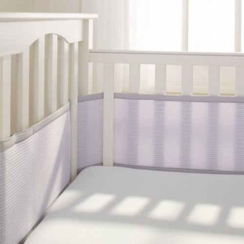 Breathable Baby Deluxe Breathable Mesh Crib Liner in Grey