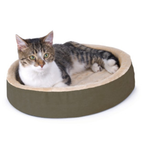 Thermo-Kitty Cuddle Up Cat Bed - Sage