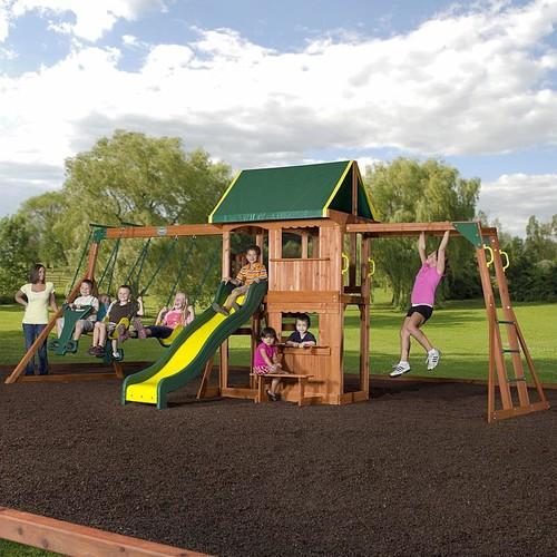 Backyard Discovery Prairie Ridge Cedar Swing Set