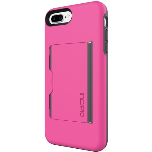 Incipio - STOWAWAY Case for Apple iPhone 7 Plus - Pink/Charcoal