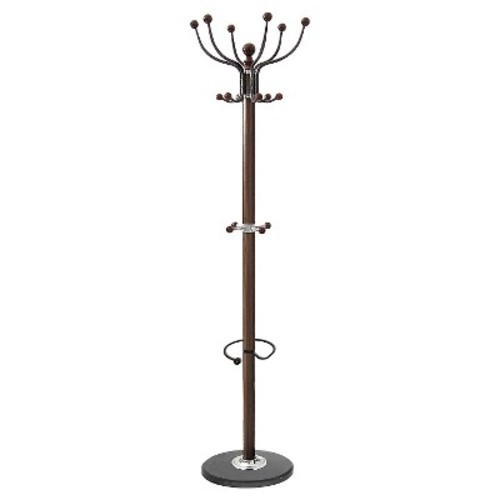 Wood Coat Stand - Brown - Home Source Industries