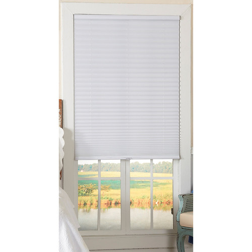 Light-Filtering Cordless White Pleated Shade - 30x64