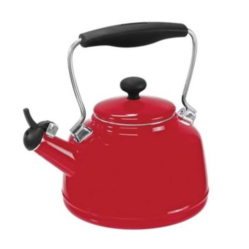 Chantal 2 Qt. Vintage Tea Kettle; Red