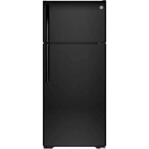 GE 17.5 cu. ft. Top Freezer Refrigerator in Black