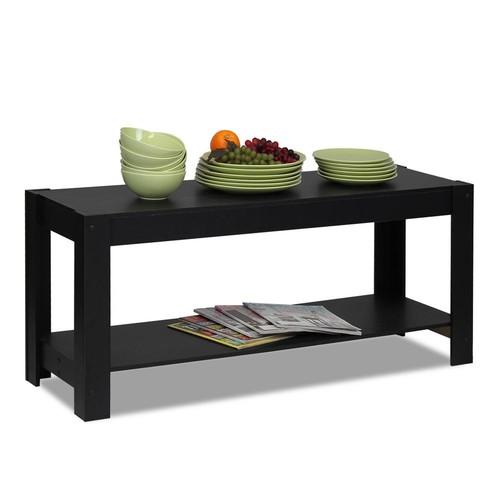 Furinno Parsons Multipurpose Black Coffee Table