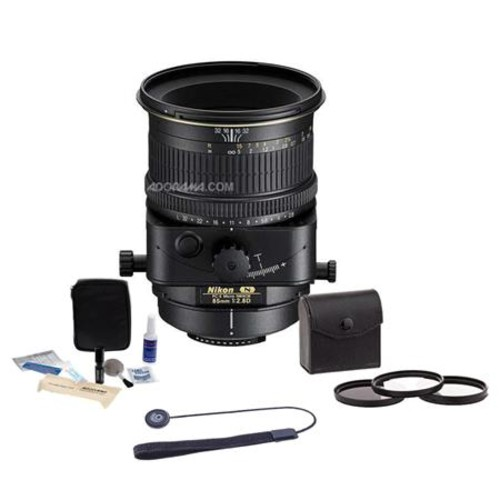 Nikon PC-E Micro NIKKOR 85mm f/2.8D MF Lens - USA w/Filter & Cleaning Bundle 2175 K