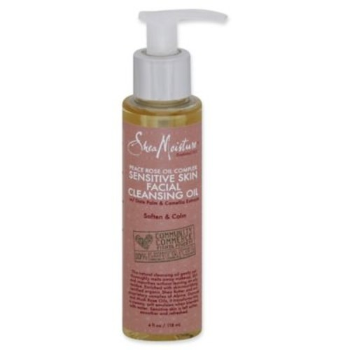 Shea Moisture 4 fl. oz. Peace Rose Oil Complex Facial Cleansing Oil for Sensitive Skin