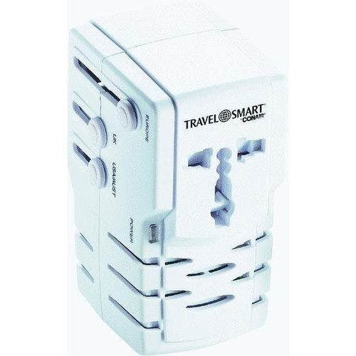 Franzus Travel Smart All-In-One Foreign Plug Adapter Combination Unit - TS253ADN