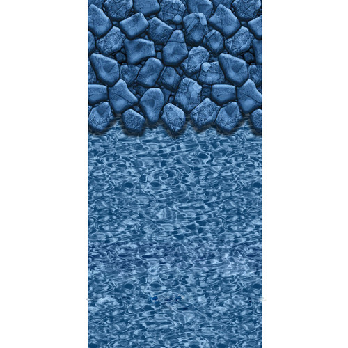 Boulder Swirl 12-ft x 24-ft Oval Beaded Pool Liner 52-in Deep