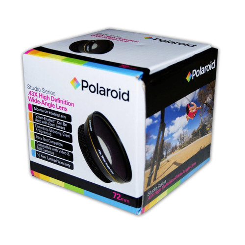 Polaroid Studio Series .43X HD Wide Angle Lens 72mm [72mm]