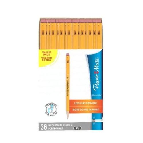 Paper Mate SharpWriter Mechanical Pencils, 0.7mm, HB #2, Box of 36