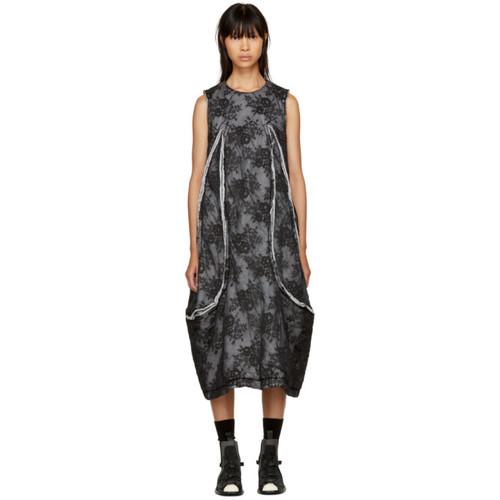 COMME DES GARÇONS Black Padded Floral Lace Dress