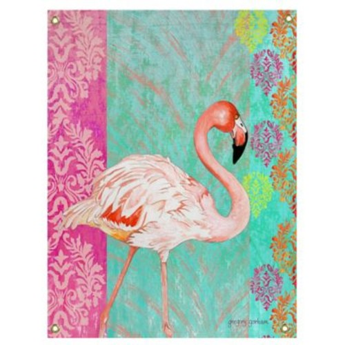 Breezy Palms Flamingo Indoor/Outdoor Wall Art