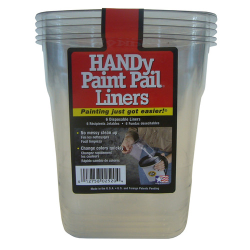 HANDY PAINT PAIL 2520CT 6PK Plastic Handy Paint Pail Liners 6-count