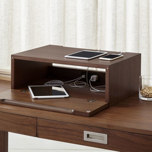 Aspect Walnut Charging Station with Power