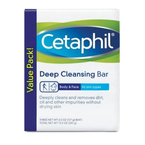 Cetaphil Deep Cleansing Bar 3pk - 4.5oz