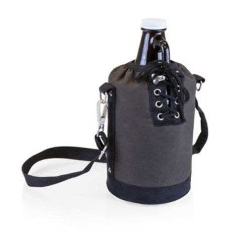 Picnic Time Growler Tote with 64 oz. Glass Growler in Grey