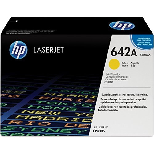 HP 642A (CB402A) Yellow Original Toner Cartridge for HP Color LaserJet CP4005