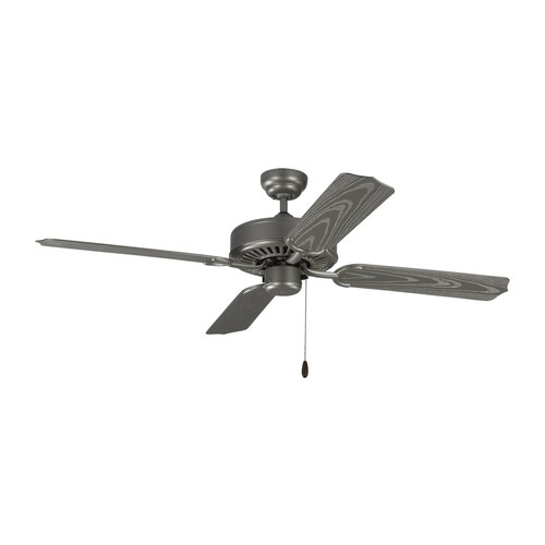 Tucker Outdoor Ceiling Fan [Finish : Painted Brushed Steel]
