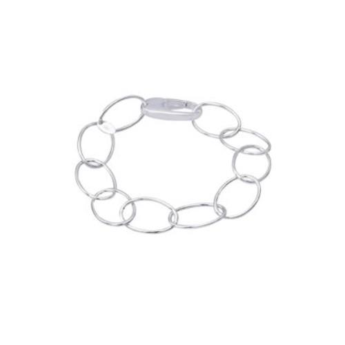 Oval Hoop Link Bracelet
