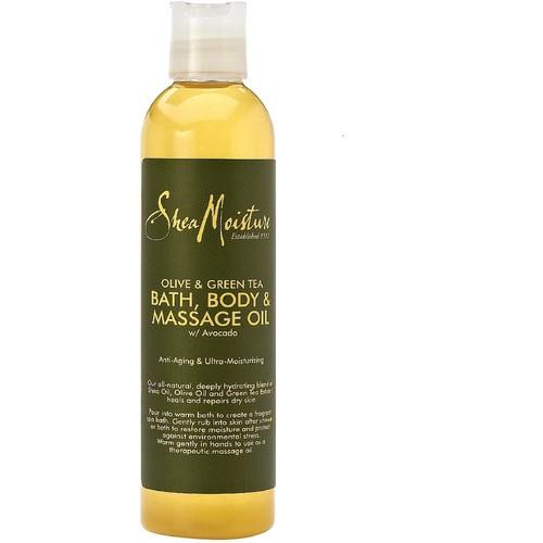 SheaMoisture Olive & Green Tea Bath, Body & Massage Oil, 8 Ounces