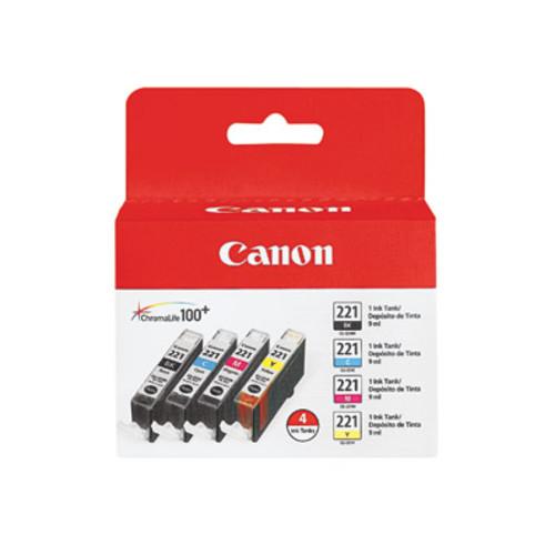 Canon CLI-221 Black/Color Ink Cartridges 4 pk