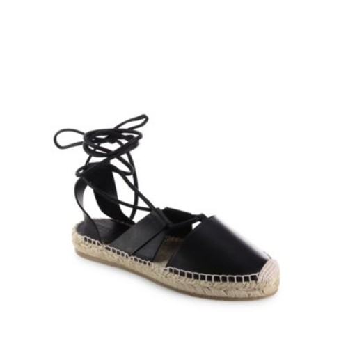 Darby Vac Leather Lace-Up Espadrilles
